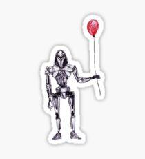 Cylon Centurion with Red Balloon Sticker