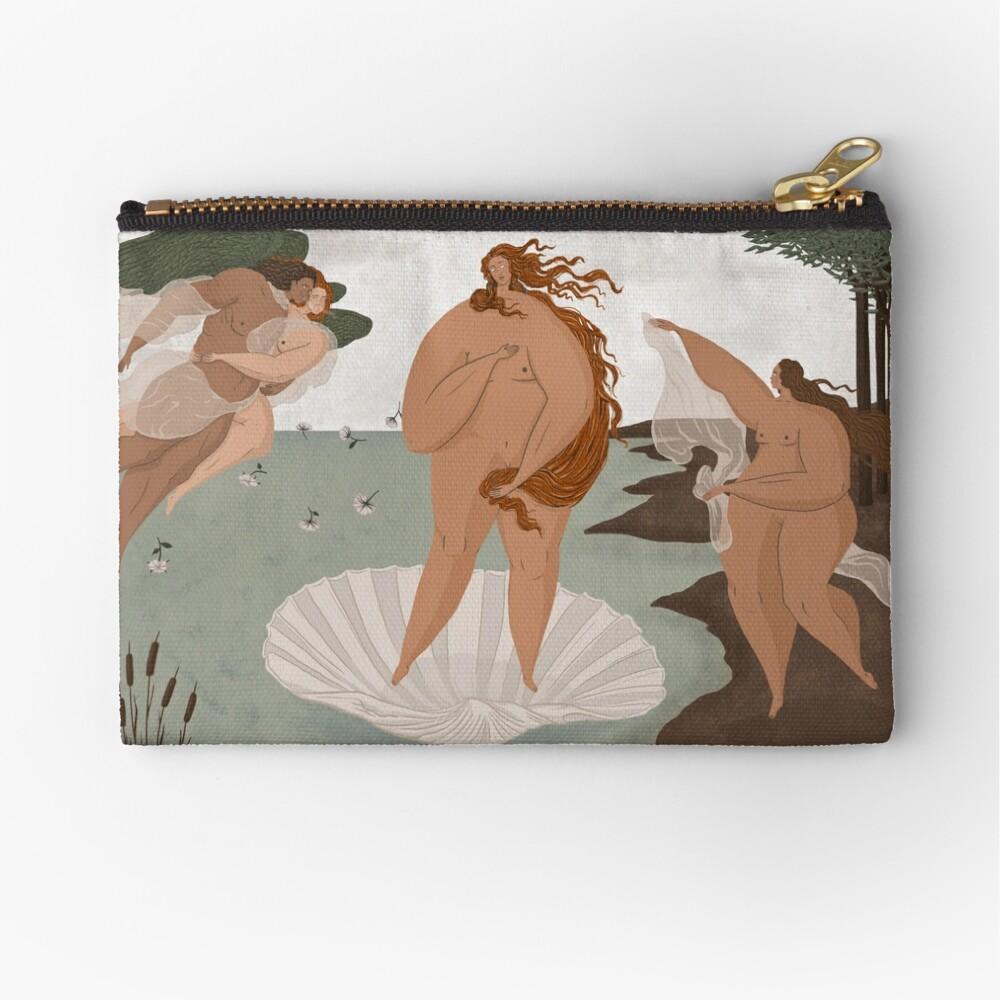 The Birth of Venus - Sandro Botticelli Zipper Pouch
