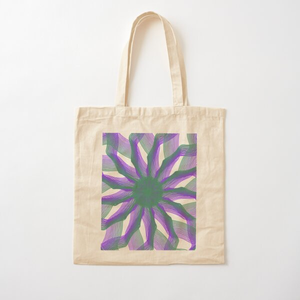 Spirograph with green and violet Cotton Tote Bag