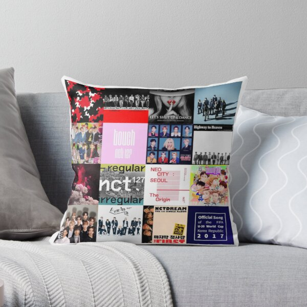 NCT Albums Collage Throw Pillow