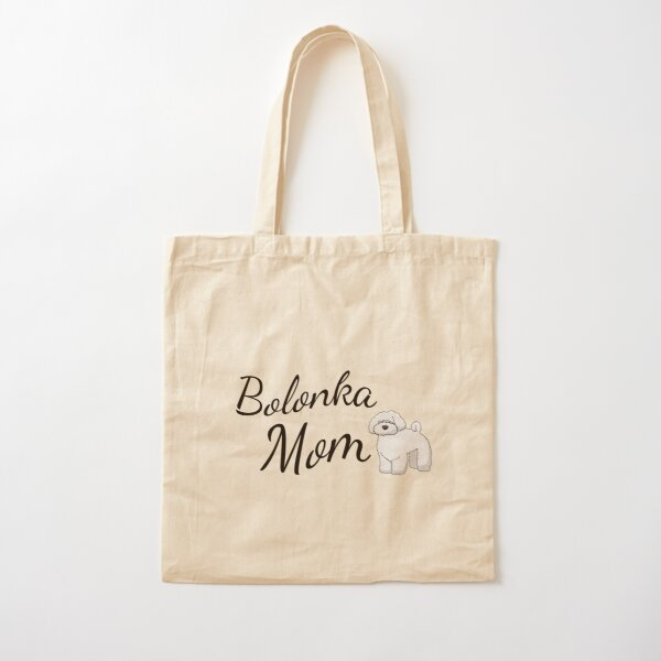 Bolonka Mom Cotton Tote Bag