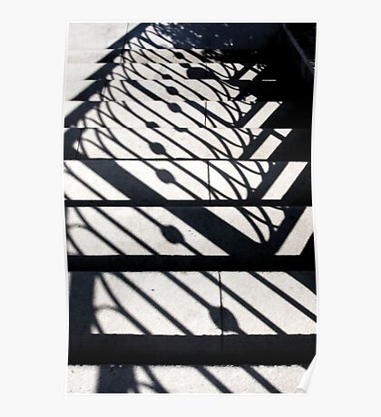 Shadowy Stairway Poster