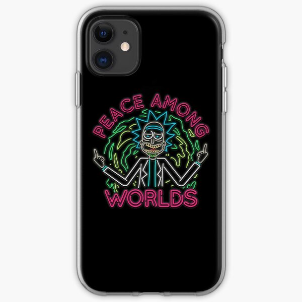 Peace Among Worlds neon iPhone Soft Case