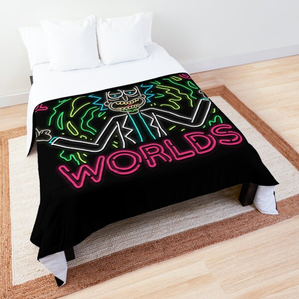 Peace Among Worlds neon Comforter