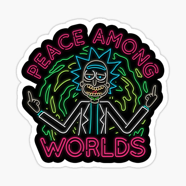 Peace Among Worlds neon Sticker