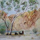 Afternoon Shade Watercolour Painting  by Heatherian