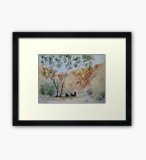 Afternoon Shade Watercolour Painting  Framed Print