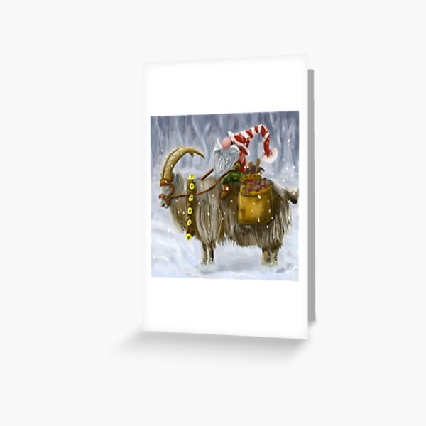 Gnome and Goat Greeting Card