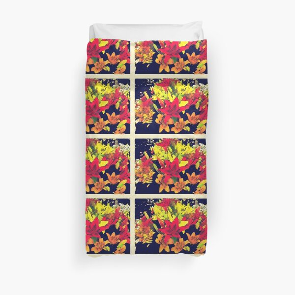 Large Bunch of Flowers Duvet Cover
