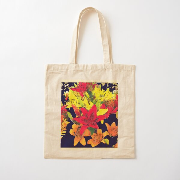 Large Bunch of Flowers Cotton Tote Bag