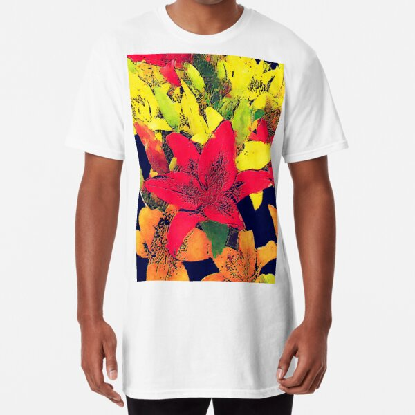Large Bunch of Flowers Long T-Shirt