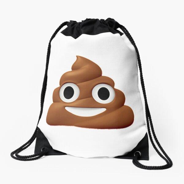Poo Emoji Drawstring Bag