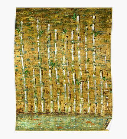 Bamboo & Koi Poster