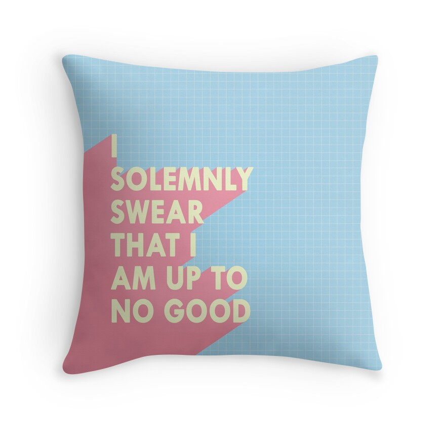 I solemnly swear... | Throw Pillow