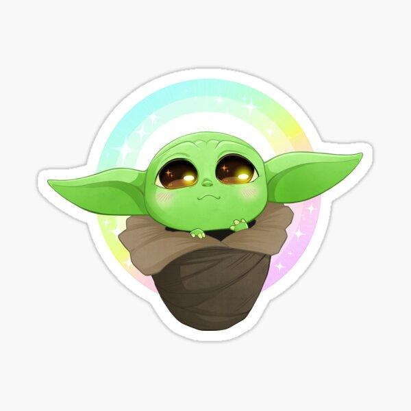 Baby Yoddle (Rainbow Sparkle Cuteness) Sticker
