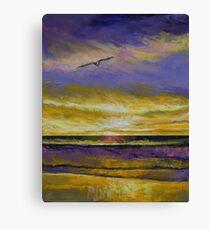 Seagull Sunset Canvas Print