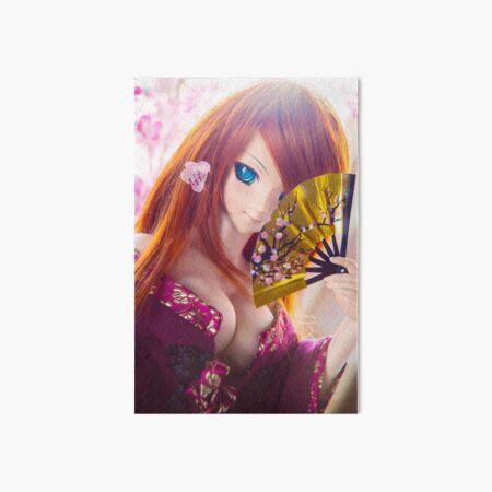 Golden fan · Yuuko Art Board Print