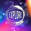 Colorful Explore Space Astronaut Helmet by orionlodubyal