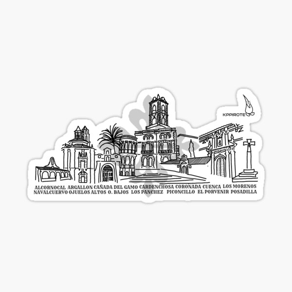 Fuenteobejuna Skyline Sticker