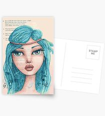 Feathers in Her Hair Postcards