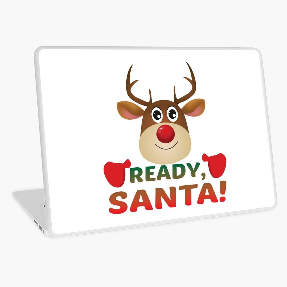 Christmas Rudolph, Ready Santa, Reindeer Gift. Laptop Skin