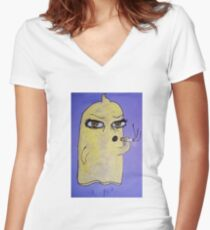 Condom Man Women's Fitted V-Neck T-Shirt