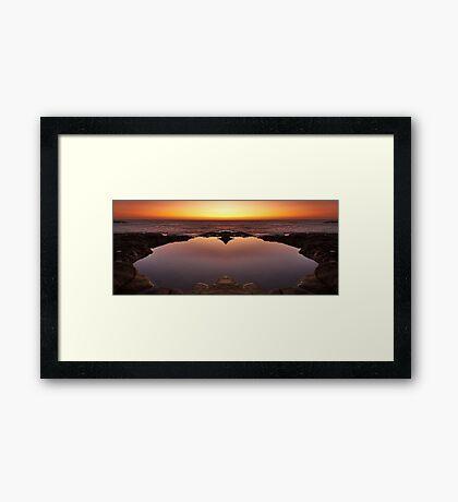 Ocean Heart Framed Print