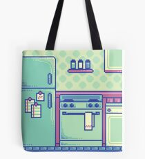 Kitchen (Pixel) Tote Bag