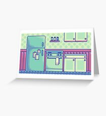 Kitchen (Pixel) Greeting Card