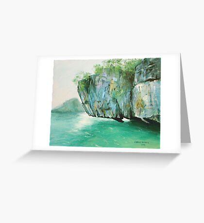 Hanging rock - Thailand Greeting Card