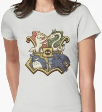 Ghibliwarts Crest Womens Fitted T-Shirt