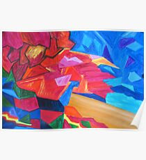 Abstract Landscape Composition Poster