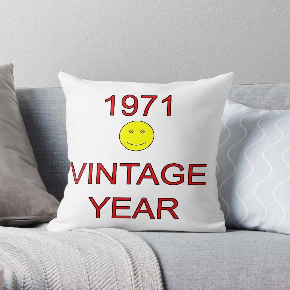 1971 Vintage Year Throw Pillow