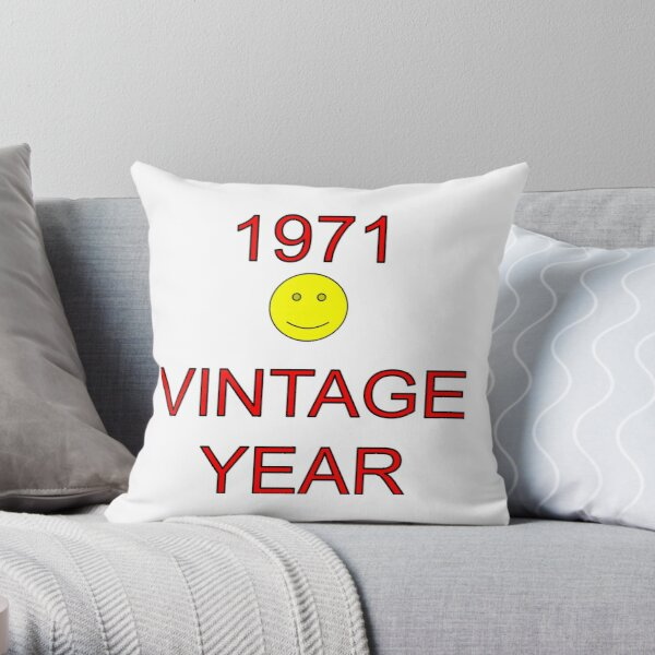 1971 Vintage Year Throw Pillow