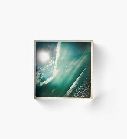 sunshine through the clouds -  Series No.4 Acrylic Block
