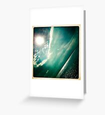sunshine through the clouds -  Series No.4 Greeting Card