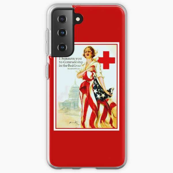 ROTES KREUZ: Vintage Wartime Nurses Print Samsung Galaxy Flexible Hülle