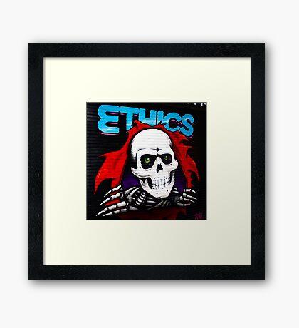 Ethics! Framed Print