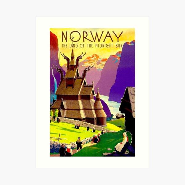 NORWAY : Land of the Midnight Sun Advertising Print Art Print
