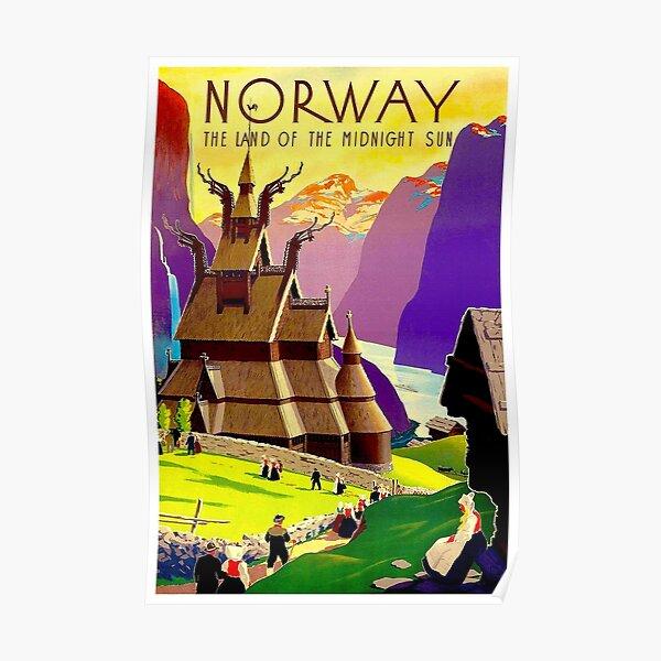 Vikings Repro Advertising Poster Land