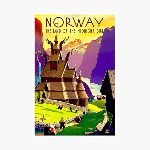 NORWAY : Land of the Midnight Sun Advertising Print Photographic Print