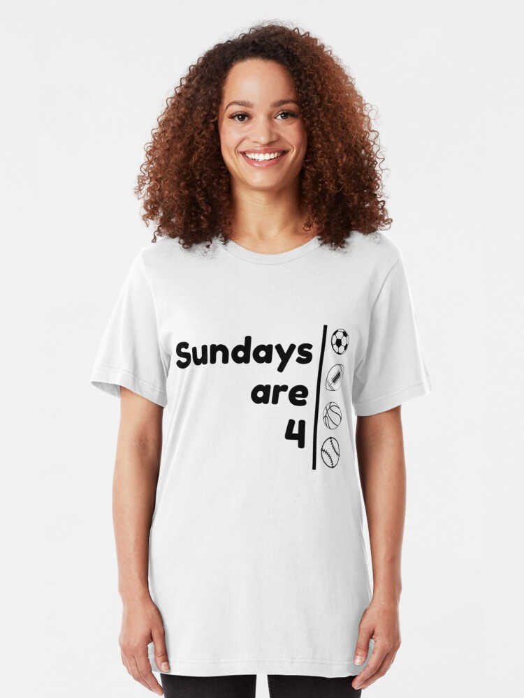 Alternate view of Sundays Are 4 Slim Fit T-Shirt