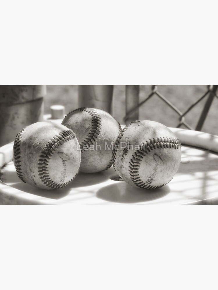 3 Baseballs on a Bucket in Sepia by LeahMcPhail