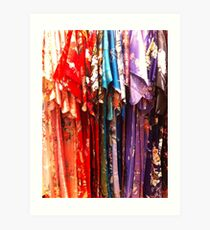 Colorful Kimonos Art Print