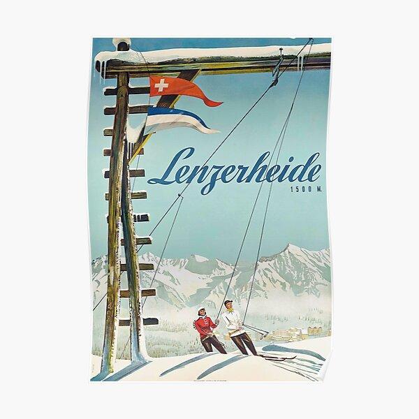 Lenzerheide - Affiche vintage de voyage suisse Poster