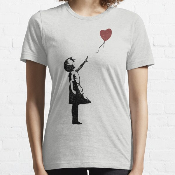 Girl with Balloon (distressed design) Essential T-Shirt