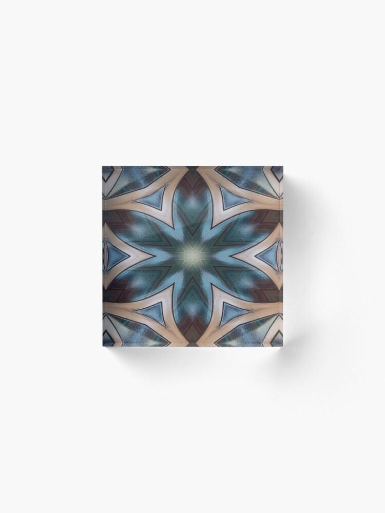 Alternate view of Desert Colors Kaleidoscope Acrylic Block