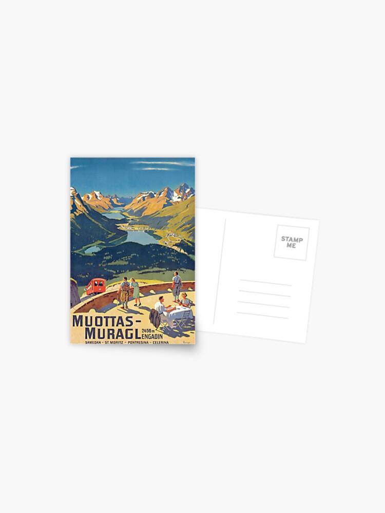 Swiss Vintage postcard Block