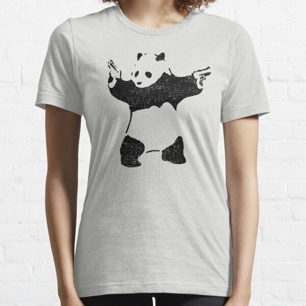 Panda with Guns (distressed design) Essential T-Shirt