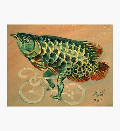 Dragon Fish on a Ghost Bike Photographic Print